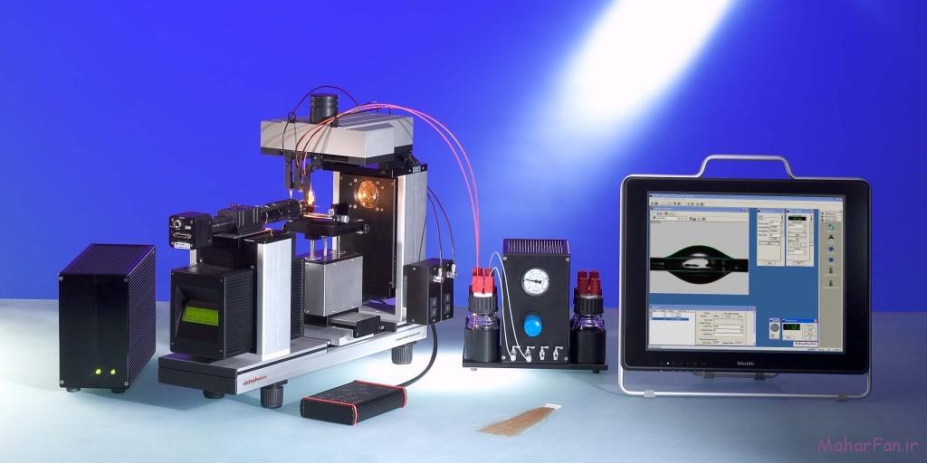 دستگاه کشش سطحی و زاویه تماس با یونیت جدا برای مایع های تزریقی
