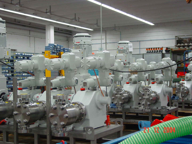 پراسس پمپ های فشار بالا و دوزینگ بودارکننده گاز