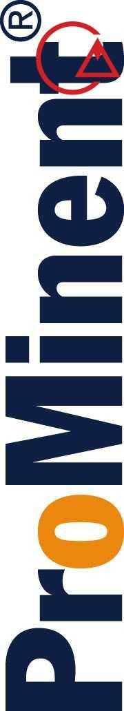 ProMinent logo Blue Orange Vertical large