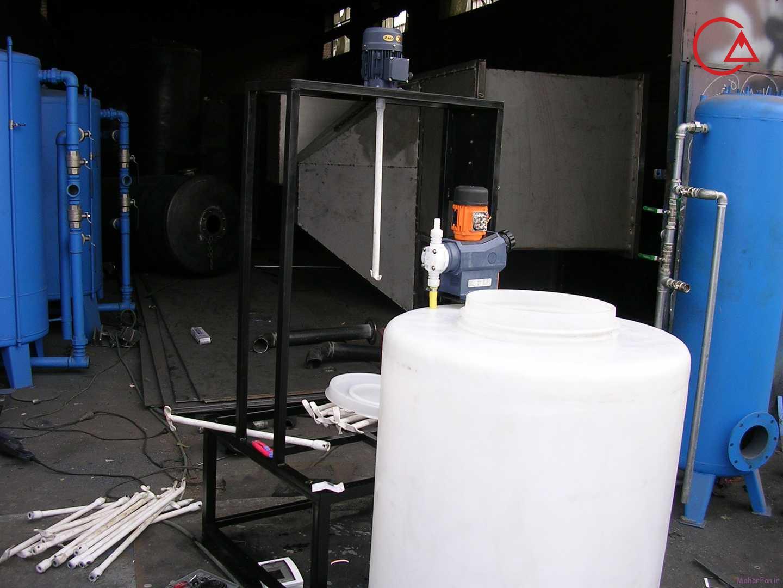 پکیج تزریق مواد شیمیایی بهمراه دوزینگ پمپ