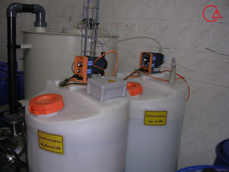 پمپ بتا و گاما نصب شده روی بشکه