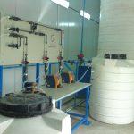 تزریق و کنترل میزان کلر محلول در آب