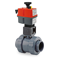 jj actuator valve ball pvc hidroten