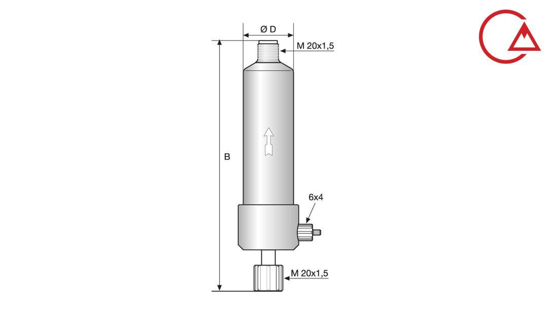 یکنواخت کننده جریان سیال دوزینگ پمپ Accumulator Pulsation Damper