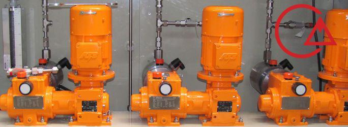رفع مشکل افت و کاهش دبی دوزینگ پمپ در فشار بالا