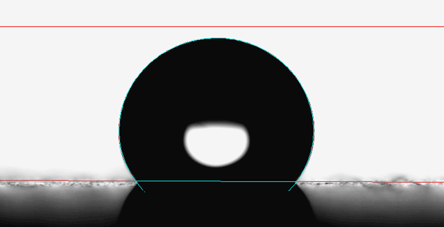 قطره بی پایه - اندازه گیری کشش سطحی قطره به کمک نرم افزار