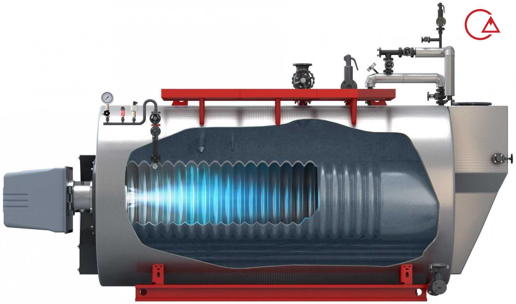 ساختار دیگ بخار - بویلر چه اجزایی دارد