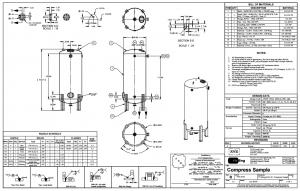 نمونه نقشه کارگاهی مخزن تحت فشار و فیلتر شنی