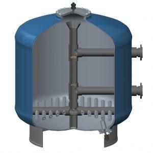 pressure sand filter structure