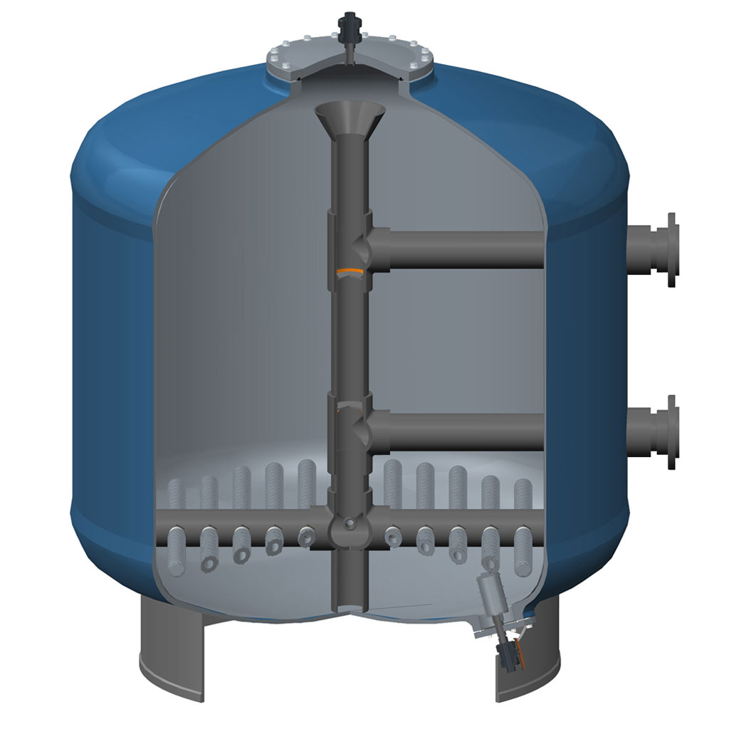 pressure sand filter structure