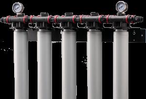 فیلتر کارتریج و سیستم تصفیه آب بهمراه فشارسنج اختلافی