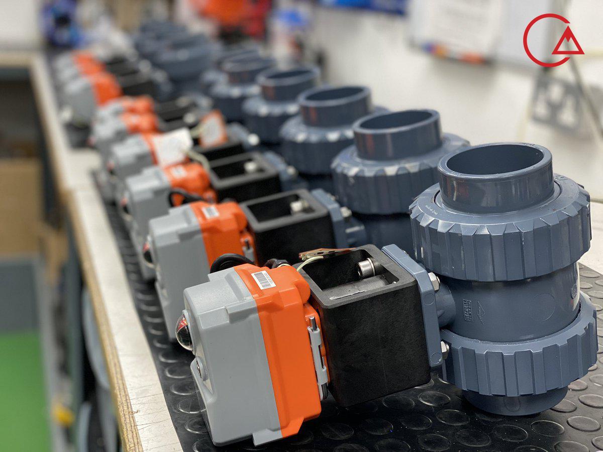 بال ولو برقی شیر اکچوییتور PVC انتقال اسید هیدروتن